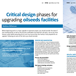 Critical Design Phases For Upgrading Oilseeds Facilities, Inform Magazine, April 2016