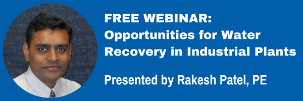 Webinar: Opportunities For Water Recovery In Industrial Plants