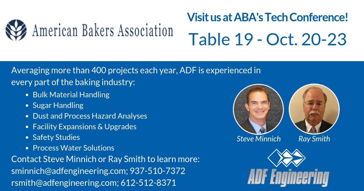 Visit ADF at the American Bakers Tech Conference!