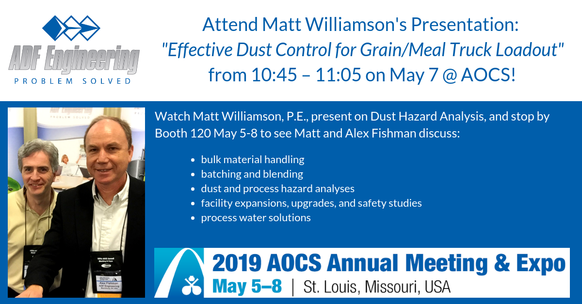 ADF Exhibiting At AOCS 2019